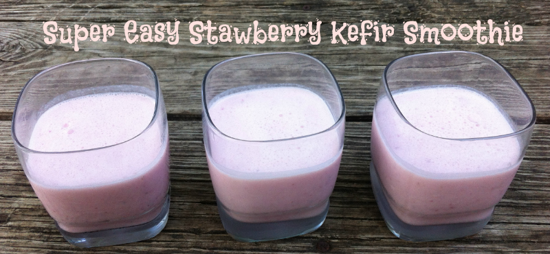 Strawberry Kefir Smoothy